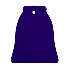 Plain Violet Purple Bell Ornament (two Sides) by Jojostore