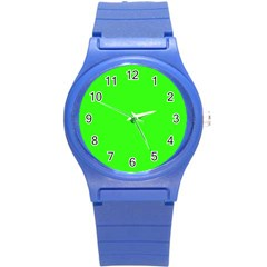 Plain Green Round Plastic Sport Watch (s) by Jojostore