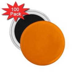 Plain Orange 2 25  Magnets (100 Pack)  by Jojostore