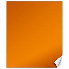 Plain Orange Canvas 8  X 10  by Jojostore