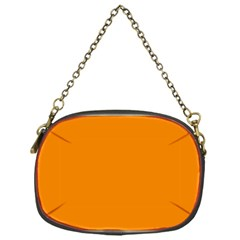 Plain Orange Chain Purses (one Side)  by Jojostore