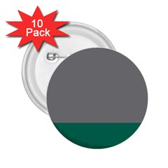Trolley Grey Green Tropical 2 25  Buttons (10 Pack)  by Jojostore