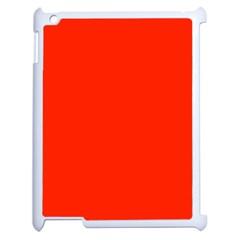 Plain Orange Red Apple Ipad 2 Case (white) by Jojostore