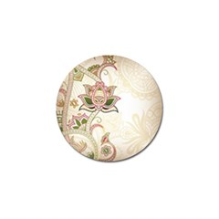 Floral Flower Star Leaf Gold Golf Ball Marker by Jojostore