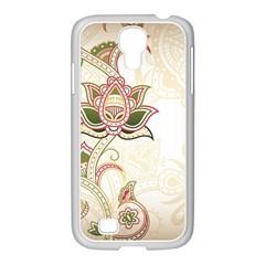 Floral Flower Star Leaf Gold Samsung Galaxy S4 I9500/ I9505 Case (white) by Jojostore