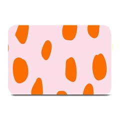 Polka Dot Orange Pink Plate Mats by Jojostore