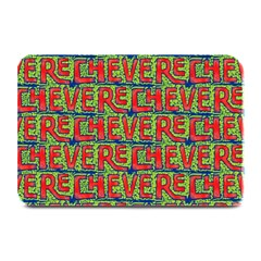 Typographic Graffiti Pattern Plate Mats by dflcprints
