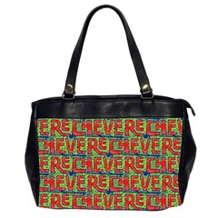 Typographic Graffiti Pattern Office Handbags (2 Sides)  by dflcprints