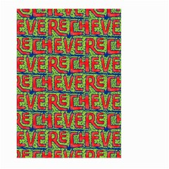 Typographic Graffiti Pattern Large Garden Flag (two Sides) by dflcprints