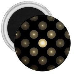 Gray Balls On Black Background 3  Magnets by Nexatart