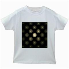 Gray Balls On Black Background Kids White T Shirts by Nexatart