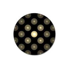 Gray Balls On Black Background Magnet 3  (round) by Nexatart