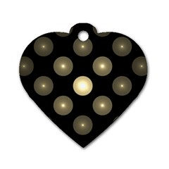 Gray Balls On Black Background Dog Tag Heart (two Sides) by Nexatart