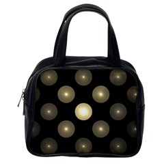 Gray Balls On Black Background Classic Handbags (one Side) by Nexatart