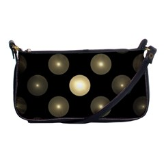 Gray Balls On Black Background Shoulder Clutch Bags by Nexatart