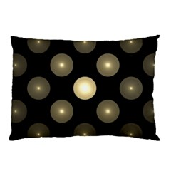 Gray Balls On Black Background Pillow Case (two Sides) by Nexatart