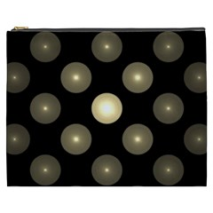 Gray Balls On Black Background Cosmetic Bag (xxxl)  by Nexatart