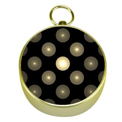 Gray Balls On Black Background Gold Compasses by Nexatart