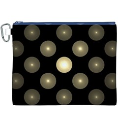 Gray Balls On Black Background Canvas Cosmetic Bag (xxxl) by Nexatart