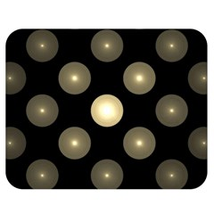 Gray Balls On Black Background Double Sided Flano Blanket (medium)  by Nexatart