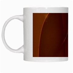 Brown Background Waves Abstract Brown Ribbon Swirling Shapes White Mugs by Nexatart