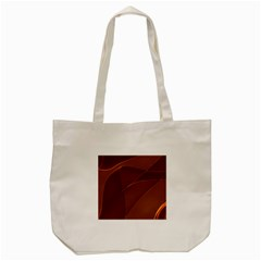 Brown Background Waves Abstract Brown Ribbon Swirling Shapes Tote Bag (cream) by Nexatart