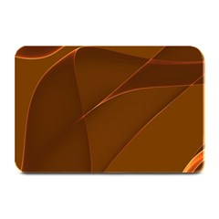 Brown Background Waves Abstract Brown Ribbon Swirling Shapes Plate Mats by Nexatart