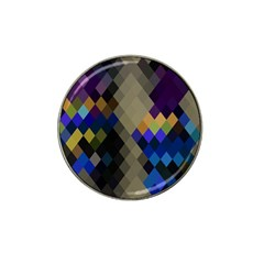 Background Of Blue Gold Brown Tan Purple Diamonds Hat Clip Ball Marker (10 Pack) by Nexatart