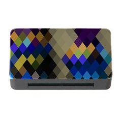 Background Of Blue Gold Brown Tan Purple Diamonds Memory Card Reader With Cf by Nexatart