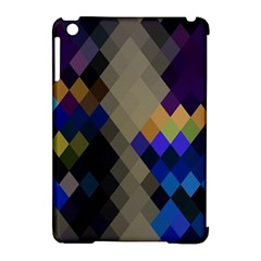 Background Of Blue Gold Brown Tan Purple Diamonds Apple Ipad Mini Hardshell Case (compatible With Smart Cover) by Nexatart