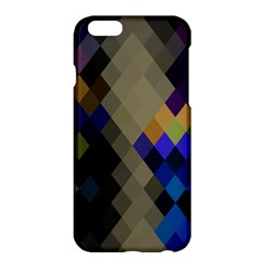 Background Of Blue Gold Brown Tan Purple Diamonds Apple Iphone 6 Plus/6s Plus Hardshell Case by Nexatart