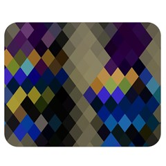 Background Of Blue Gold Brown Tan Purple Diamonds Double Sided Flano Blanket (medium)  by Nexatart