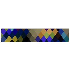 Background Of Blue Gold Brown Tan Purple Diamonds Flano Scarf (small) by Nexatart
