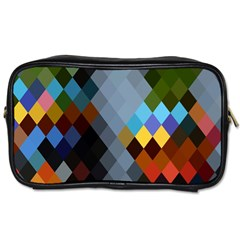 Diamond Abstract Background Background Of Diamonds In Colors Of Orange Yellow Green Blue And More Toiletries Bags by Nexatart