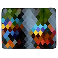 Diamond Abstract Background Background Of Diamonds In Colors Of Orange Yellow Green Blue And More Samsung Galaxy Tab 7  P1000 Flip Case by Nexatart