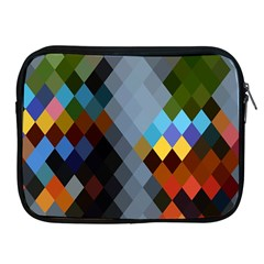 Diamond Abstract Background Background Of Diamonds In Colors Of Orange Yellow Green Blue And More Apple iPad 2/3/4 Zipper Cases