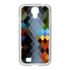 Diamond Abstract Background Background Of Diamonds In Colors Of Orange Yellow Green Blue And More Samsung Galaxy S4 I9500/ I9505 Case (white)