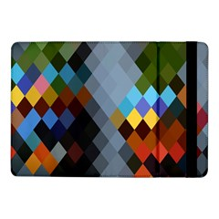 Diamond Abstract Background Background Of Diamonds In Colors Of Orange Yellow Green Blue And More Samsung Galaxy Tab Pro 10 1  Flip Case by Nexatart