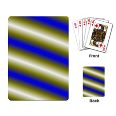 Color Diagonal Gradient Stripes Playing Card