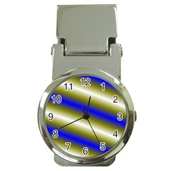 Color Diagonal Gradient Stripes Money Clip Watches by Nexatart