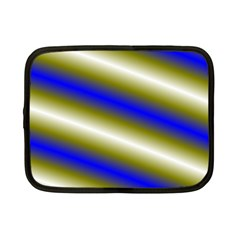 Color Diagonal Gradient Stripes Netbook Case (small)  by Nexatart