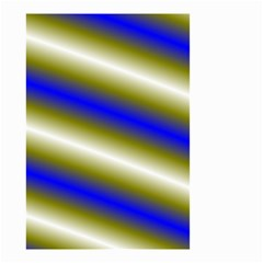Color Diagonal Gradient Stripes Small Garden Flag (two Sides) by Nexatart