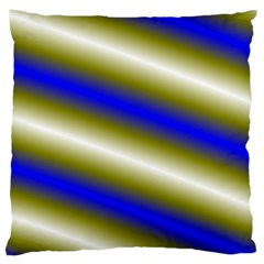 Color Diagonal Gradient Stripes Large Cushion Case (two Sides) by Nexatart