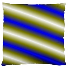 Color Diagonal Gradient Stripes Large Flano Cushion Case (one Side) by Nexatart