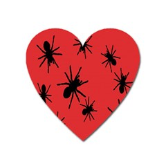 Illustration With Spiders Heart Magnet by Nexatart