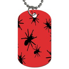 Illustration With Spiders Dog Tag (two Sides) by Nexatart
