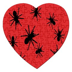 Illustration With Spiders Jigsaw Puzzle (heart) by Nexatart