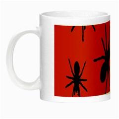 Illustration With Spiders Night Luminous Mugs by Nexatart