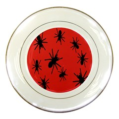 Illustration With Spiders Porcelain Plates by Nexatart