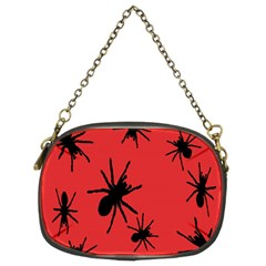 Illustration With Spiders Chain Purses (two Sides)  by Nexatart